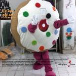 Almanya Happy Donazz Donut Maskot Kostüm