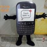 BlackBerry Telefon Maskot Kostümü