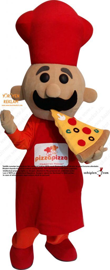 Pizza Pizza Maskot kostümü