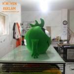 Albidi.com Yeşil Canavar Maskot Kostümü