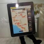 iPad maskot kostümü