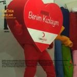 Kalp Maskot Kostümü / Kızılay
