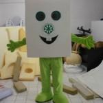 Küp şeker maskot kostümü