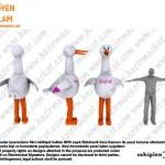 Leylek Maskot Kostümü / Azerbaycan
