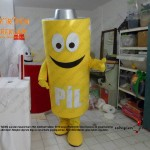Pil geridönüşüm maskot kostümü / Pendik Belediyesi