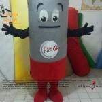 Bitik pil maskot kostümü / Almanya Fluxport