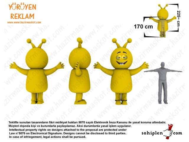 Turkcell Emocan Maskot Kostümü