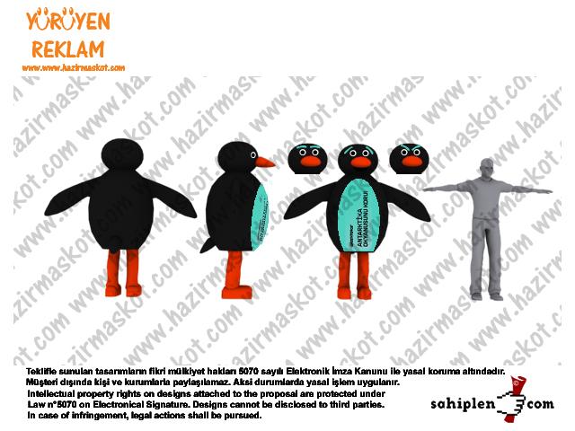 Penguen Maskot Kostümü