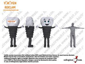 Diş İmplant Maskot Kostümü