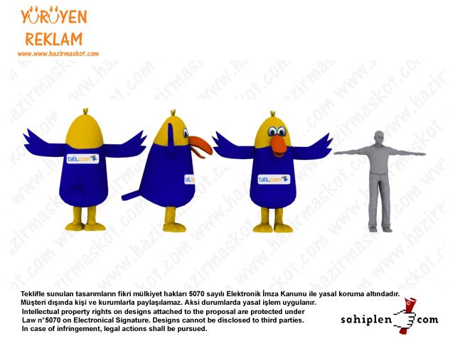 Papağan Maskot Kostümü