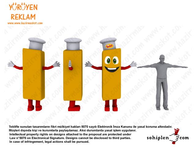 Patates Kızartması Kostümü
