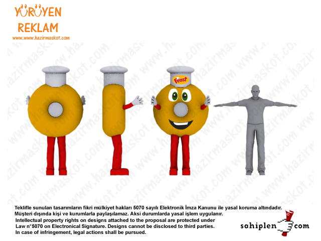 Soğan Halkası Maskot Kostümü