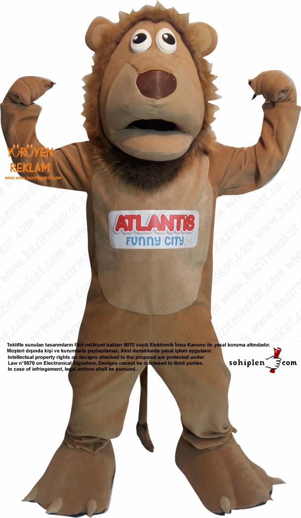 Aslan Maskot Kostümü / Atlantis Bowling / Form Spor / Evrensel Spor