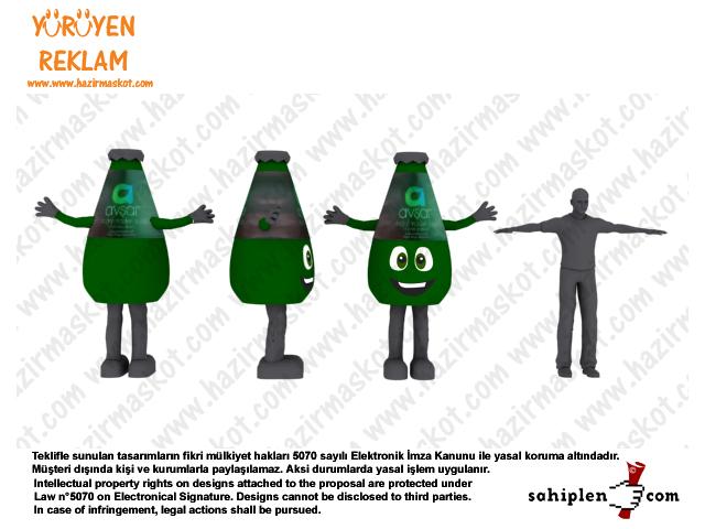 Avşar Soda Şişe Maskot Kostümü