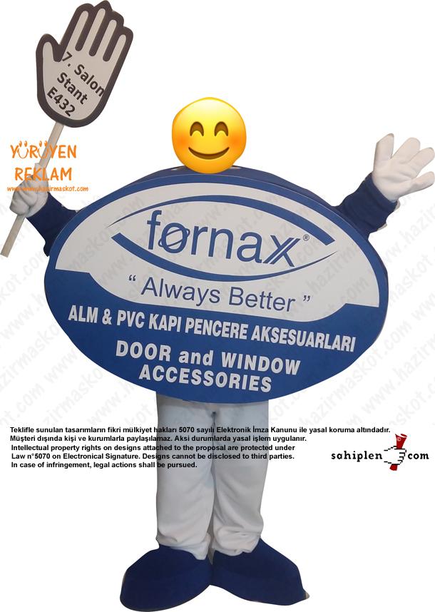 Logo Maskot kostümü / Fornax