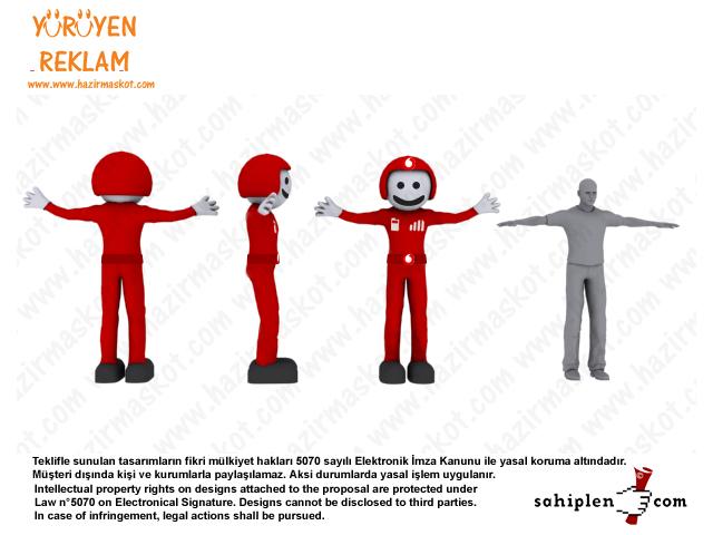 Vodafone Robot Maskot Kostümü