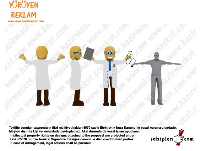 Doktor Maskot Kostümü / Doctor Mascot Costume