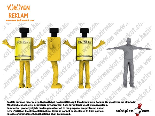 Parfüm Şişesi Maskot Kostümü
