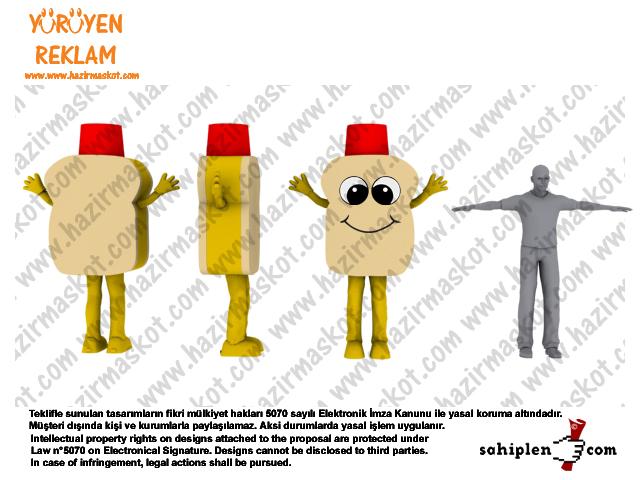 Tost maskot kostümü