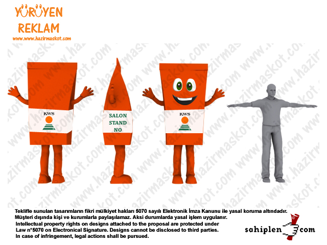Çuval maskot kostümü / Tohum Maskotu