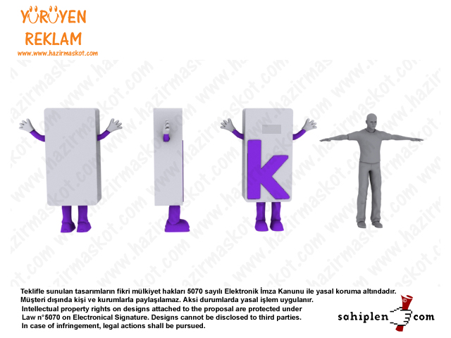 K harfi maskot kostümü / kariyer.net