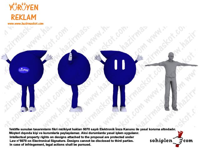Küre maskot/ Top maskot / Denizbank FastPay