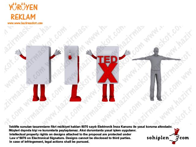 TEDx maskot kostümü