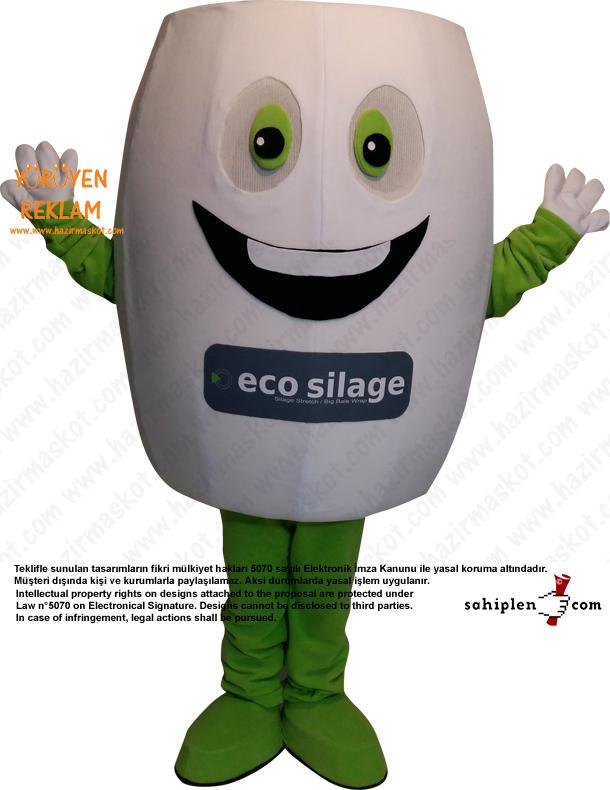 Ecosilage Silaj Maskot Kostümü