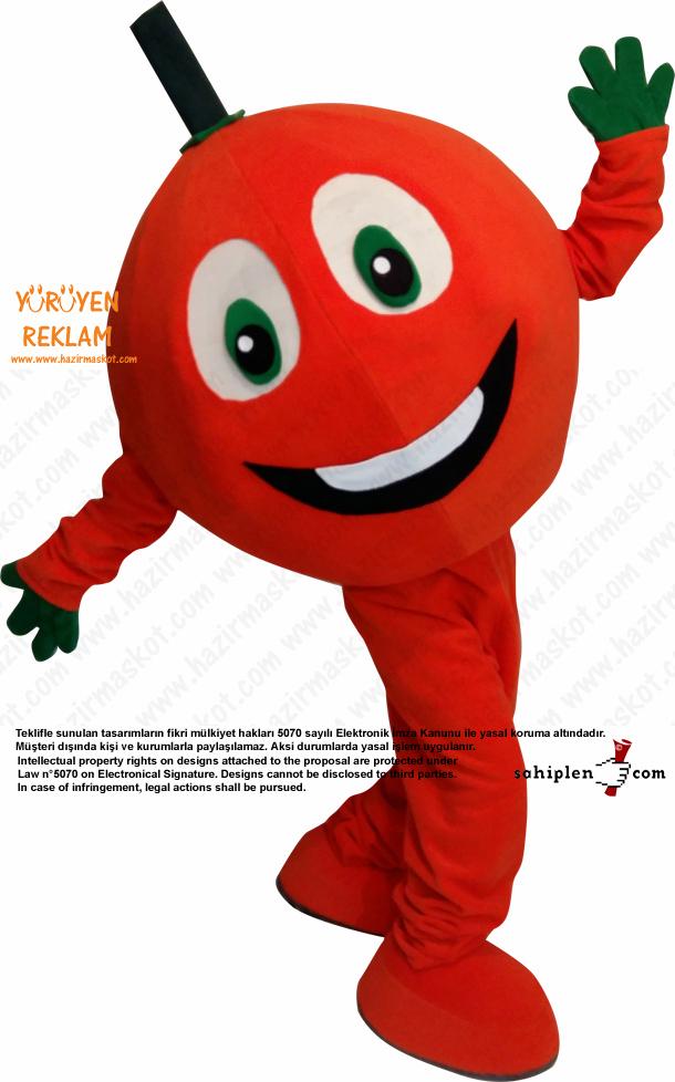 Portakal Maskot Kostümü Orange Mascot Costume